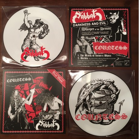 "Sabbat / Countess - Split Picture 7"" EP"