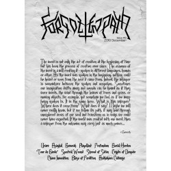 Forgotten Path Magazine 10 Gevurah, Tour-de-Garde, Shroud of Satan, Blaze of Perdition etc,