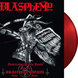 Blasphemy - Desecration of Sao Paulo - Live in Brazilian Ritual Third Attack LP (RED vinyl)