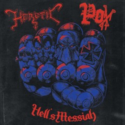 "Heretic / Pox - Hell's Messiah split 7"" EP"