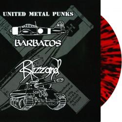 "Barbatos / Blizzard – United Metal Punks 10"" MLP (red-black splatter vinyl lts."